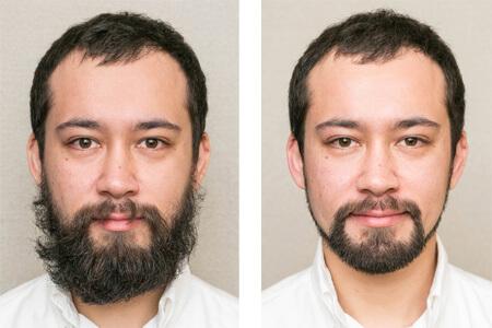 髭が整っている